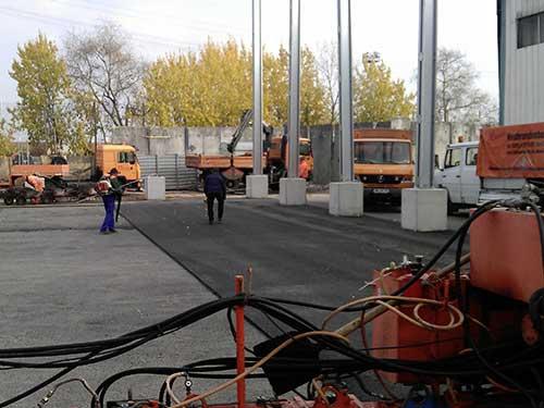 Gussasphalt als Dichtfläche im Zuge des Neubaus einer Umschlaghalle der ALBA Berlin GmbH in Berlin